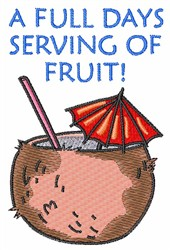 FULL DAYS SERVING OF FRUIT embroidery design