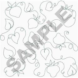 Strawberry Patch Large Square embroidery design