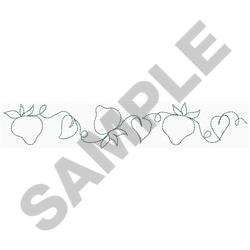 """Stawberry Patch Sashing 7"""" embroidery design"""