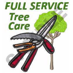 TREE CARE embroidery design