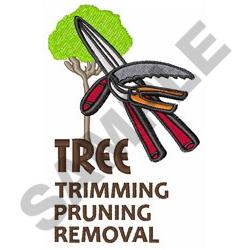 TRIMMING PRUNING REMOVAL embroidery design
