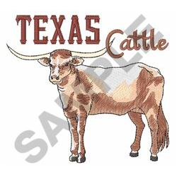 TEXAS CATTLE embroidery design