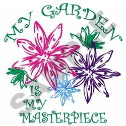 GARDEN IS MY MASTERPIECE embroidery design