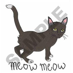 MEOW MEOW embroidery design