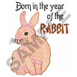 YEAR OF THE RABBIT embroidery design