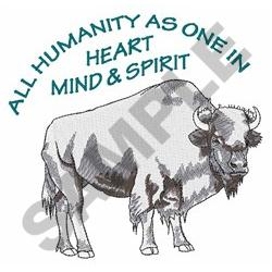 ALL HUMANITY AS ONE embroidery design