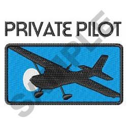 PRIVATE PILOT embroidery design