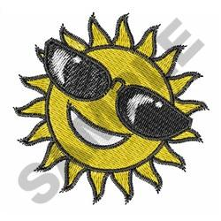 SUN WITH SHADES embroidery design