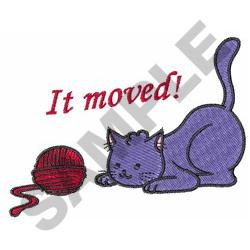 IT MOVED embroidery design