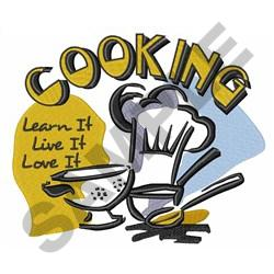 COOKING LOVE IT embroidery design