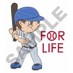 BASEBALL FOR LIFE embroidery design