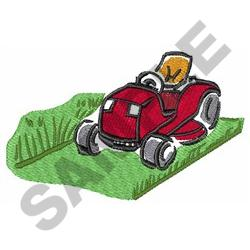 RIDING LAWNMOWER embroidery design