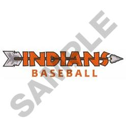 INDIANS BASEBALL embroidery design