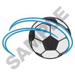 SOCCER BALL IN MOTION embroidery design
