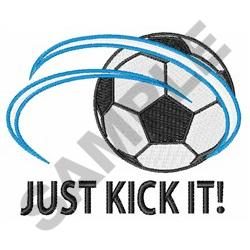 JUST KICK IT embroidery design