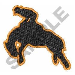 BRONC RIDER embroidery design