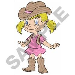 LITTLE COWGIRL embroidery design