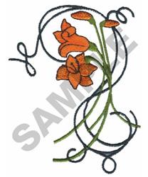 FLOWERS ON TRELLIS embroidery design