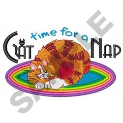 TIME FOR A CAT NAP embroidery design