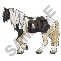 LARGER GYPSY VANNER embroidery design