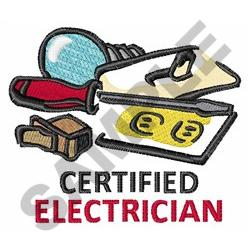 CERTIFIED ELECTRICIAN embroidery design