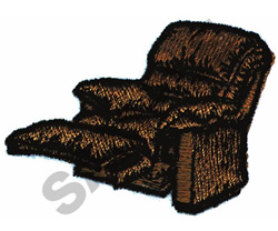 RECLINER embroidery design