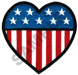 AMERICAN HEART APPLIQUE embroidery design