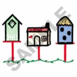 BIRD HOUSES FILE#14 embroidery design