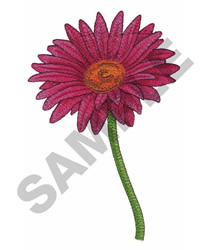 SINGLE FLOWER embroidery design