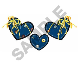HEARTS WITH BOWS embroidery design