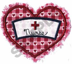 NURSE & HEART APPLIQUE embroidery design