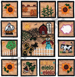 OLD MCDONALD QUILT APPLIQUE embroidery design