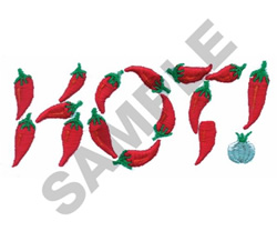 HOT PEPPERS! embroidery design