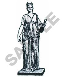 GREEK STATUE embroidery design