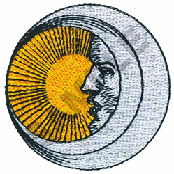 MAN IN THE MOON embroidery design