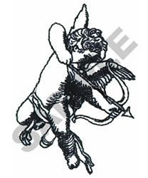 CHERUB SHOOTING BOW & ARROW embroidery design