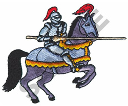 KNIGHT ON HORSEBACK embroidery design
