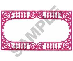 LATTICE BORDER embroidery design