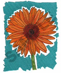 DAISY WITH BACKGROUND embroidery design