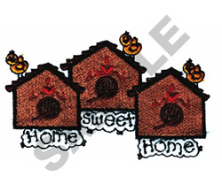 HOME SWEET HOME BIRDHOUSE embroidery design