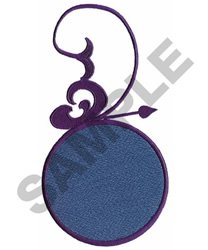CIRCLE WITH SCROLL embroidery design