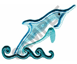 DOLPHIN (PUFFY FOAM) embroidery design