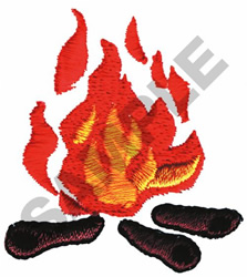 CAMP FIRE embroidery design