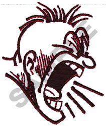 YELLING FACE EXPRESSION embroidery design