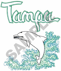 TAMPA DOLPHIN embroidery design