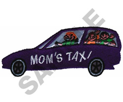 MOMS TAXI embroidery design