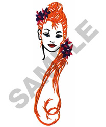 WOMAN embroidery design