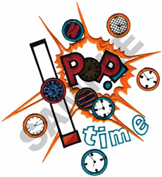POP TIME embroidery design