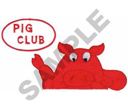 PIG CLUB embroidery design