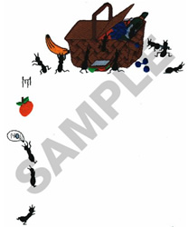 PICNIC ANTS POCKET TOPPER embroidery design